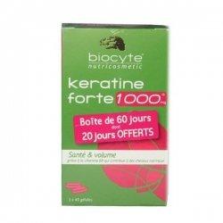 Biocyte Keratine 1000 Santé et Volume Boîte de 60 Jours dont 20 Jours OFFERT