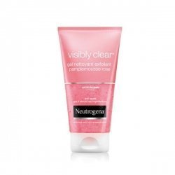 Neutrogena Visibly Clear Gel Nettoyant Exfoliant Pamplemousse Rose 150 ml