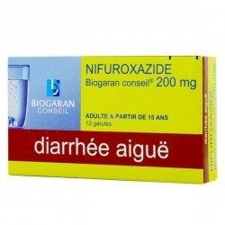 Nifuroxazide 200 mg Biogaran Diarrhées Aigues 12 Gelules