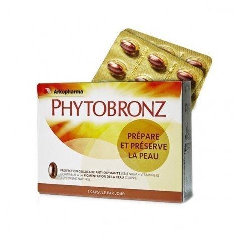 Phytobronz Prepare et Préserve la Peau x30 capsules pas cher, discount