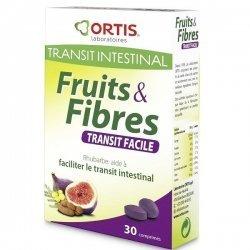 Fruits et Fibres Transit Intestinal Facilite le Transit 30 Comprimés pas cher, discount