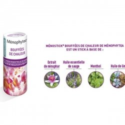 Menophytea Bouffées de Chaleur Stick à l'Huile Essentielle de Sauge 5g