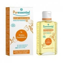 Puressentiel Effort Musculaire : Huile de Massage Bio 100 ml pas cher, discount